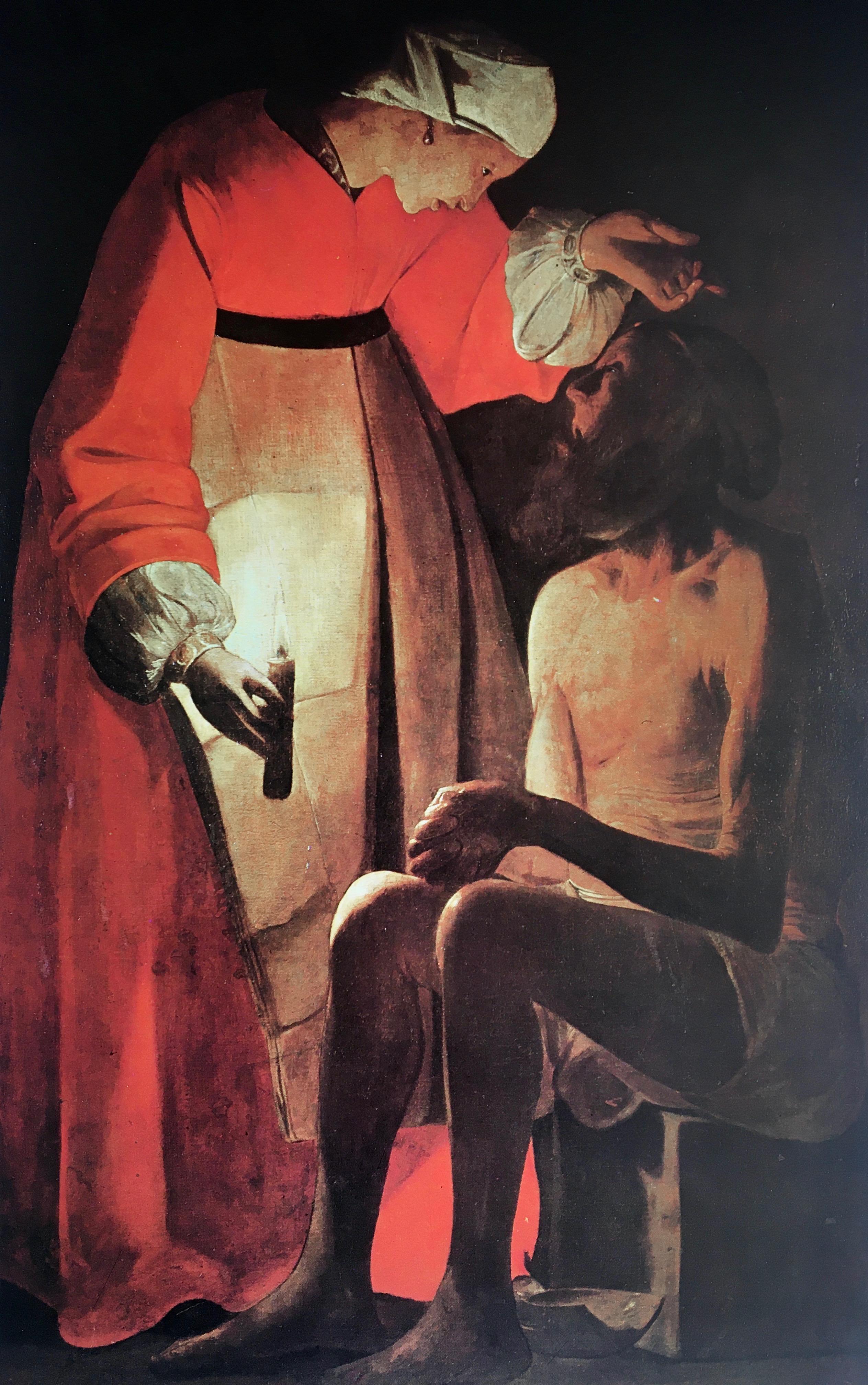 Georges de La Tour, Job et sa femme, vers 1630, huile sur toile, Epinal, Musée d'art ancien et contemporain
